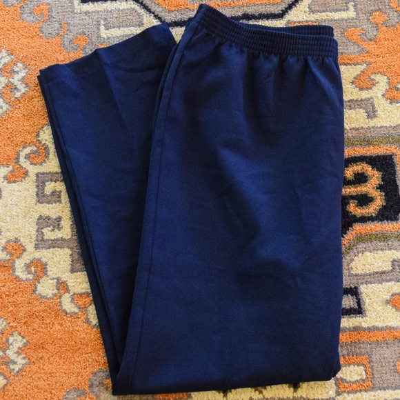 Sasson Pants - Vintage Sasson Navy Blue Trousers (Size 40)